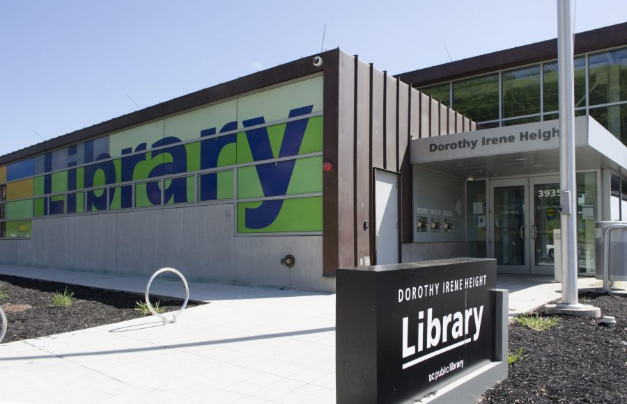 Exterior shot of the Dororty I. Height Public Library.
