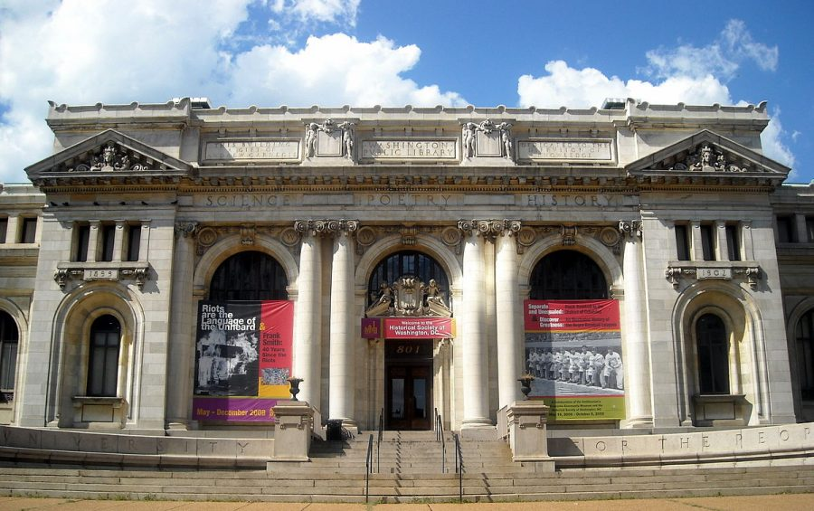 An image of the Carnegie Library in Washington D.C.