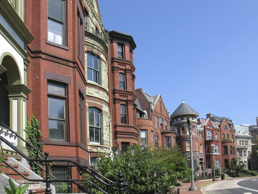 One of several shots of historic Victorian homes in Washington, D.C.