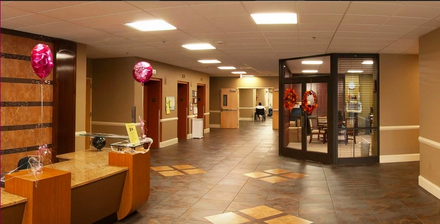 Shot of the inside of the Deanwood Rehabilitation and Wellness Center.